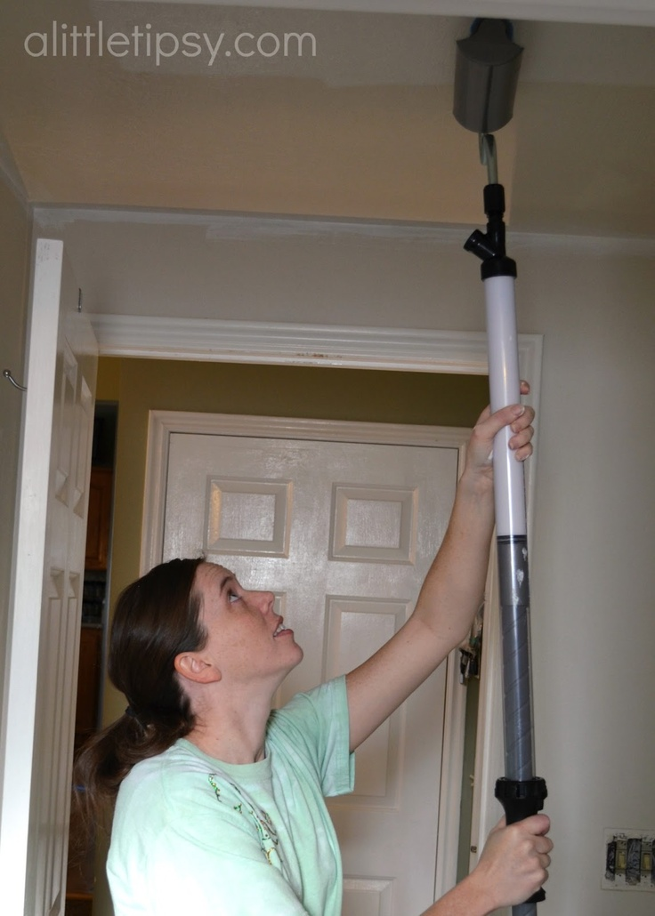 A Little Tipsy: How to Paint a Ceiling {the easy way}