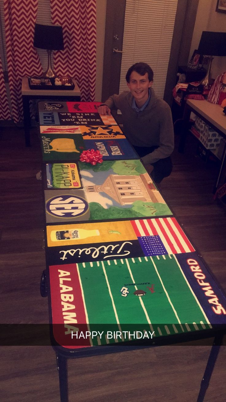 Hand Painted Beer Pong Table Frat Fraternity Cooler