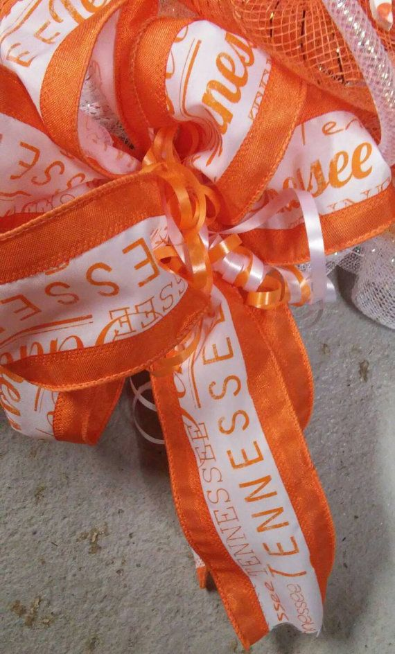 UT TENNESSEE Vols Wreath UT Football Wreath Big Orange by MyADOORableWreaths   Etsy