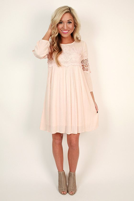 Fashion Week Crochet Shift Dress in Rose Quartz