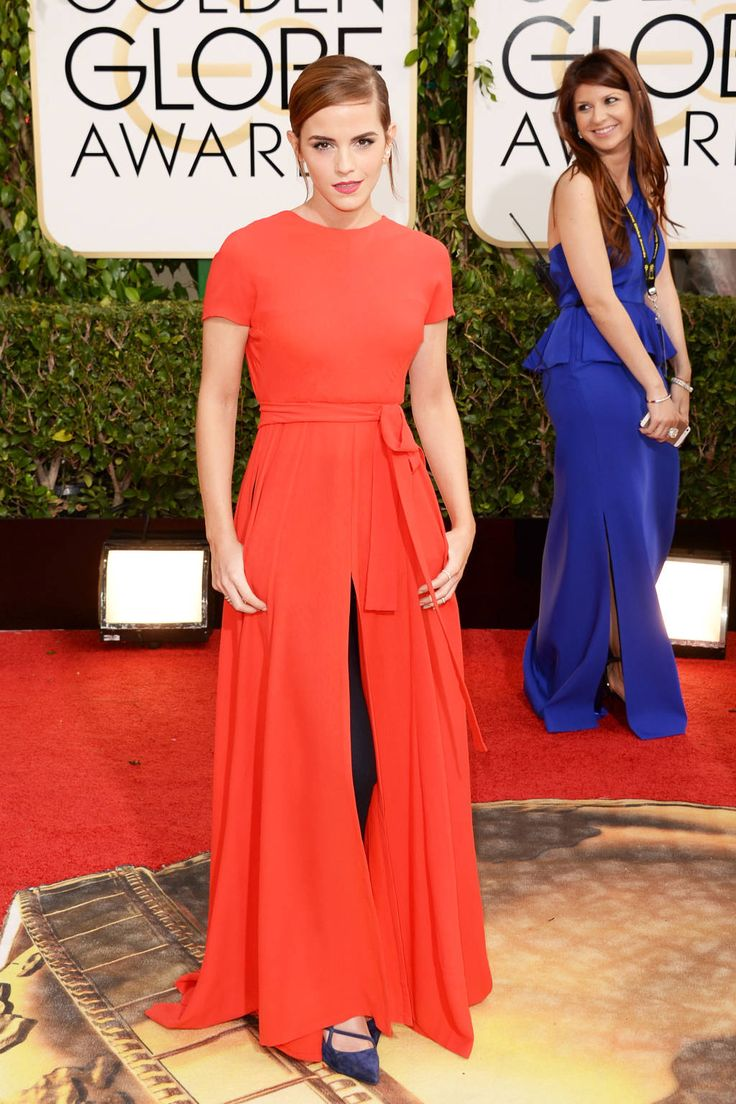 Golden Globes Red Carpet 2014 - Emma Watson in Christian Dior