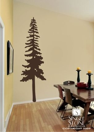 Tall Pine Tree - Wall Decals