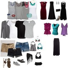 """More realistic -- """"7 day cruise packing list."""" by mmmajklaassen on ..."""