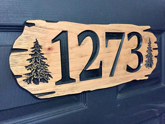 Wooden Address Sign Outdoor Address Plaque Hanging Sign Etsy Cabin Signs Outdoor Signs Hanging Signs