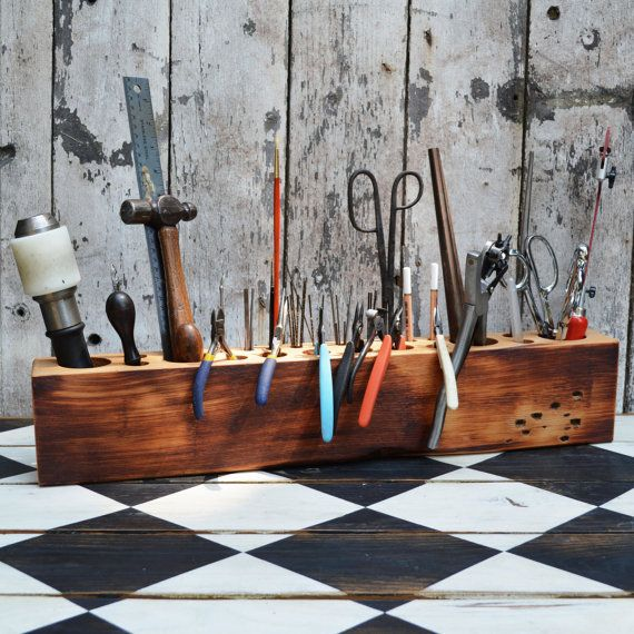 The Epic Desk Caddy: The Original, rustic, reclaimed wood, Extra Large.