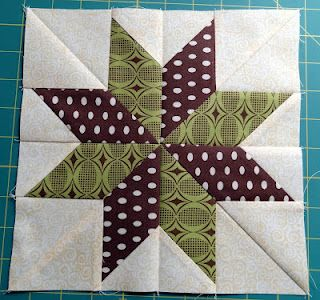 No Y-seams 8 pointed star quilt block tutorial. The cut-away from this method produces a square quilt block to use for another project.