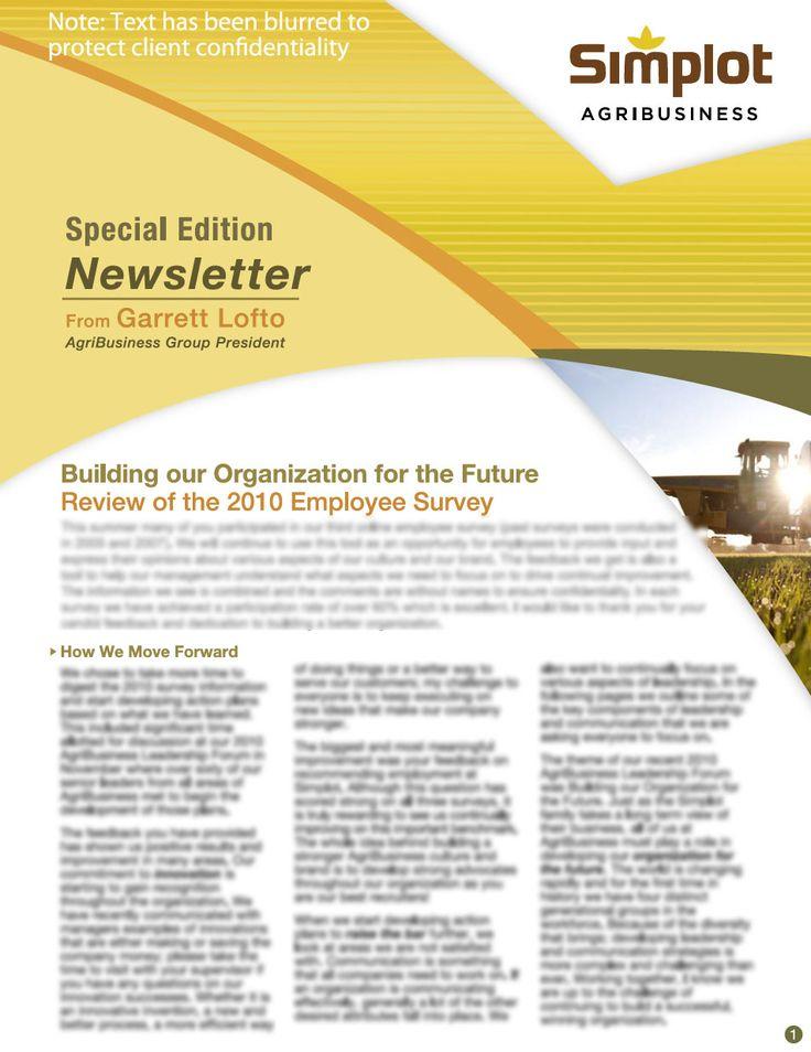 Free Newsletter Templates  MakeNewsletters