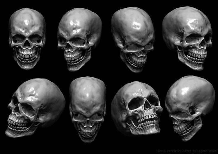 картинки черепа со всех сторон прости мое