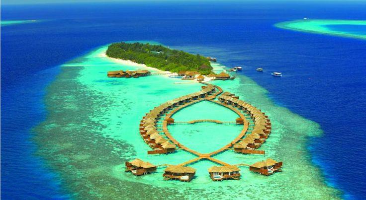泊ってみたいホテル・HOTEL|モルディブ>長さ600m、幅110mの南アリ環礁の島に位置し、マーレ国際空港から水上飛行機で25分>リリー ビーチ リゾート & スパ(Lily Beach Resort and Spa)