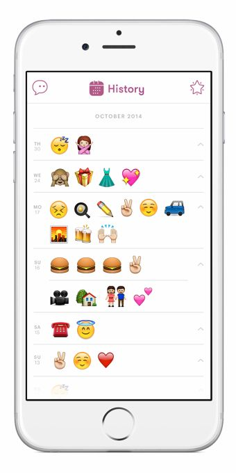 Emojiary Is A Mobile Diary App Where You Visualize Your Feelings With Emoji