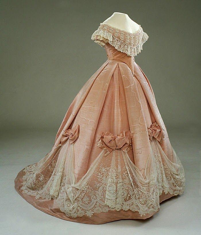 Evening dress/ballgown, ca. 1865