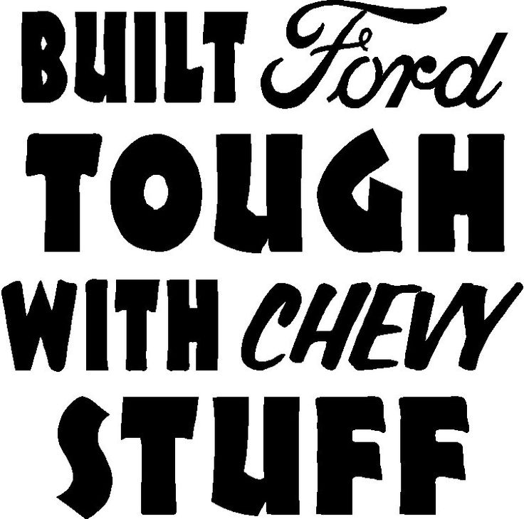 Decal Sticker Cut Vinyl Car Truck Ford Tough Chevy Stuff Window - Chevy decals for trucks