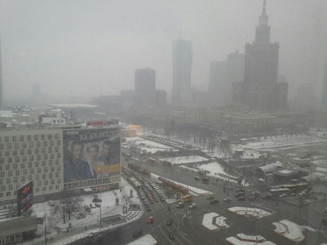 Snow in Warsaw