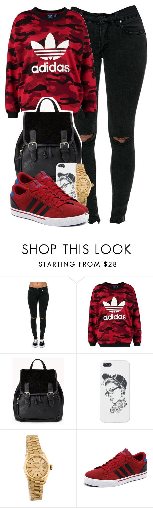 Adidas. by cheerstostyle on Polyvore featuring adidas Originals, Pistola, Forever 21, Rolex and adidas NEO