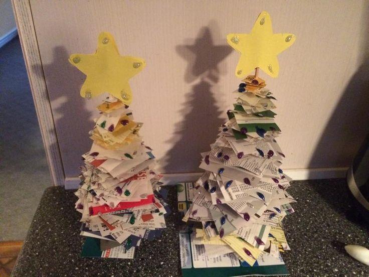 Her er en skøn idé med genbrugs-julepynt. Få br...
