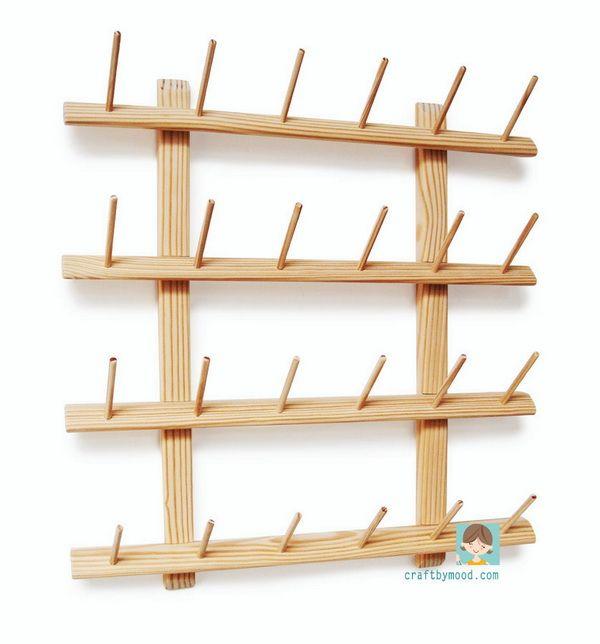 OT 1267 A.I.Y ( Assemble It Yourself) Serger Thread Organizer 24 ( Benang Obras organizer ) | craftbymood.com