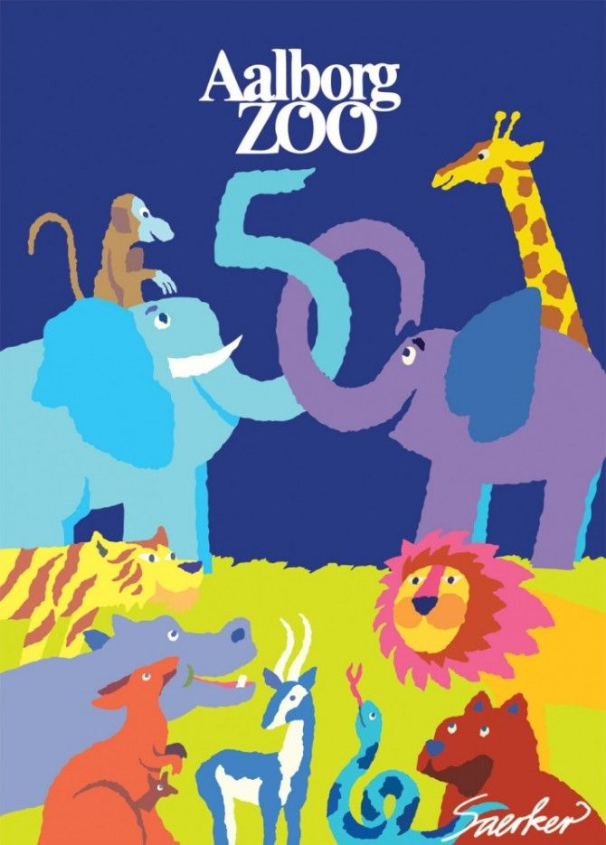 Aalborg Zoo 50 years poster