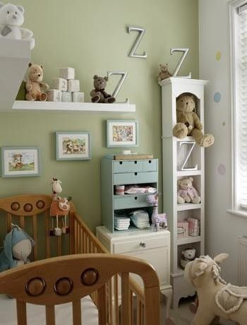 nursery ideas, plus I like the idea with the ikea box/draws as a nappy changing storage unit.