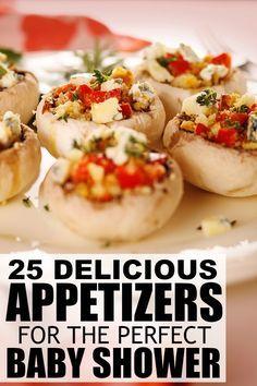 25 Simple U0026 Delicious Appetizers. Baby Shower MenuBaby ...