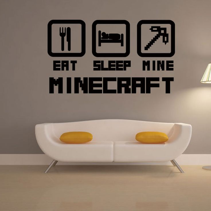 4044 cheap home decoration minecraft wall sticker removable vinyl house decor game decals in net bar - Home Decor Games