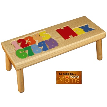 Numbers And Name Step Stool Puzzle Baby Nursery Decor