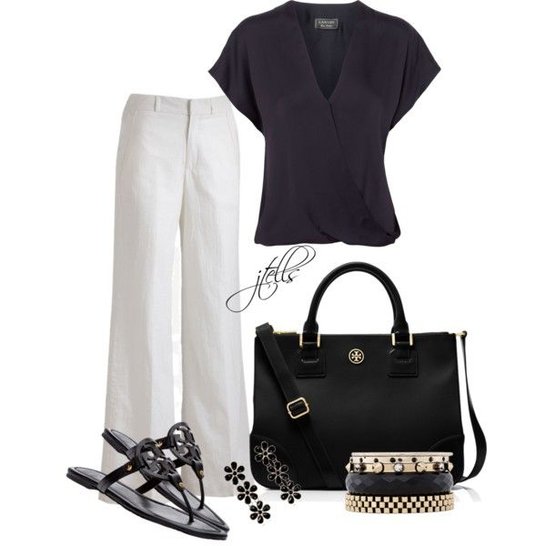 123 by jtells on Polyvore featuring Lanvin, Sharagano, Tory Burch and Iosselliani
