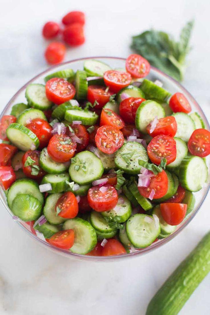 Tomato Cucumber Salad Recipe Healthy Side Dishes Cucumber Avocado Salad Side Dishes For Bbq