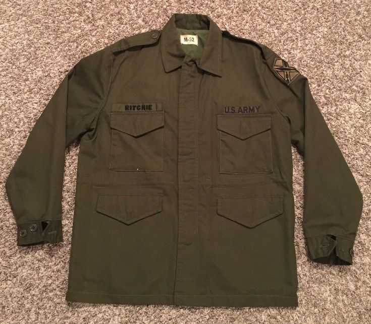 Vintage Korea War US Army M-52 Military Field Jacket Coat Medium Made in USA. | eBay