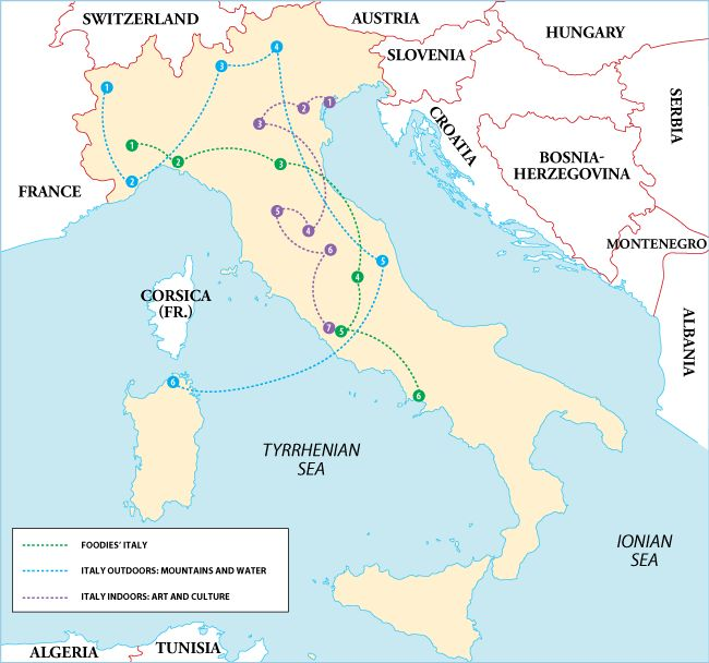Italy Itineraries I'm personally into the Food, and of course the Art and Culture!!