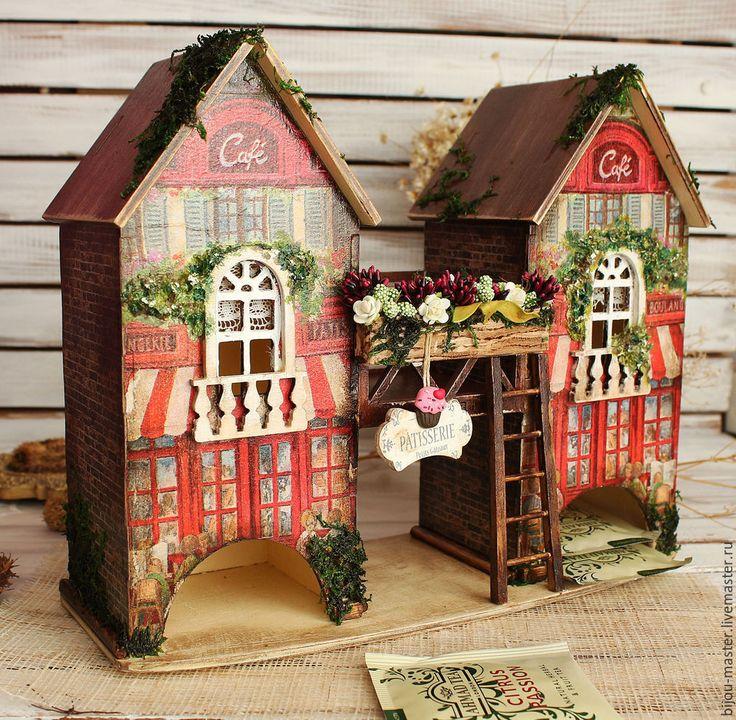 Купить чайный домик ВЕНСКАЯ КОНДИТЕРСКАЯ - красный, домик миниатюра, домик для чая, чайный домик