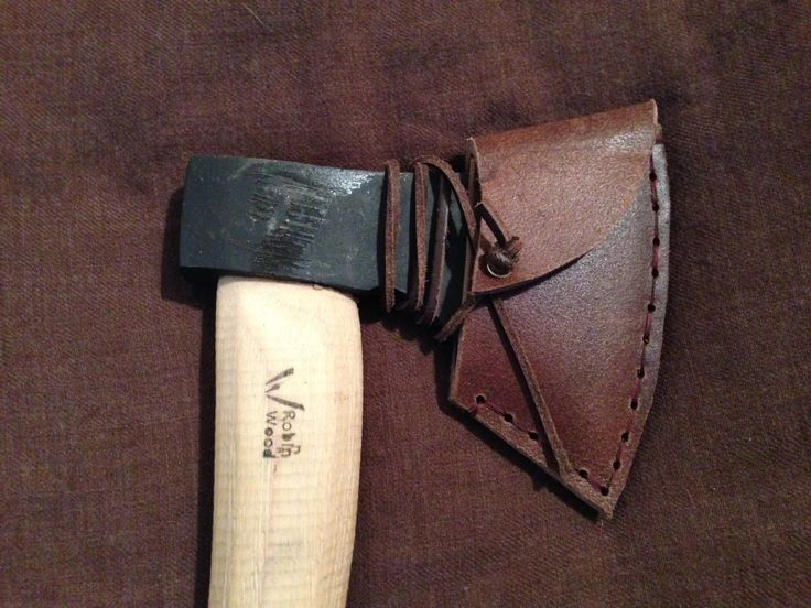 Leather Axe Sheath Chocolate Brown - fits Robin Wood axe or similar - DOESN'T INCLUDE AXE by TheWoodlandWitch on Etsy