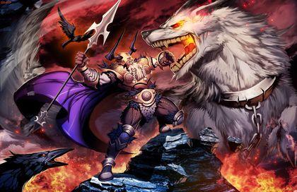 Lobo de la mitologia Nordica y lobo de fuego y hielo en algunas versiones. Al principio sólo era un cachorro, pero conforme se alimentó y empezó a crecer llegó un punto que fue imposible controlarlo. Dos veces fallaron los dioses en su intento por...