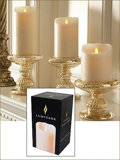 These luminara candles are everything! It looks like its real flames but its not. You would need to get up close and personal before you notice that its not real. A+ I highly recommend.