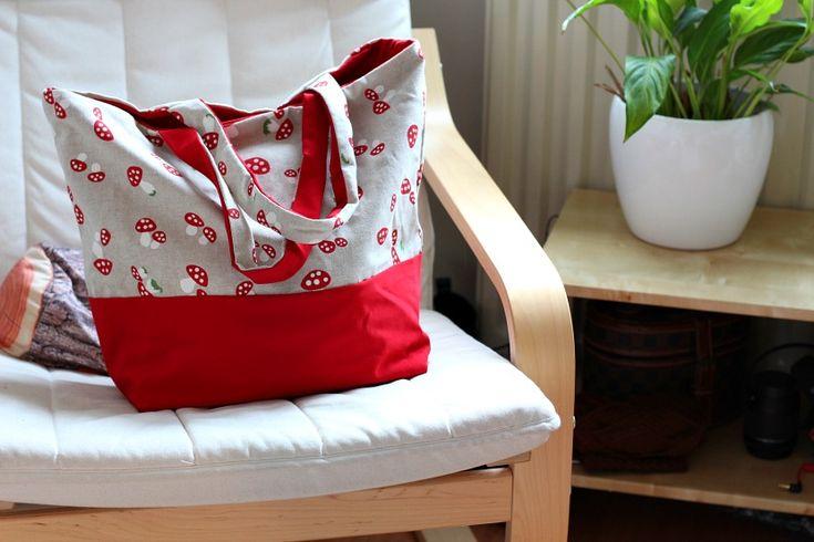 DIY Tote bag tutorial. Sewing for beginners