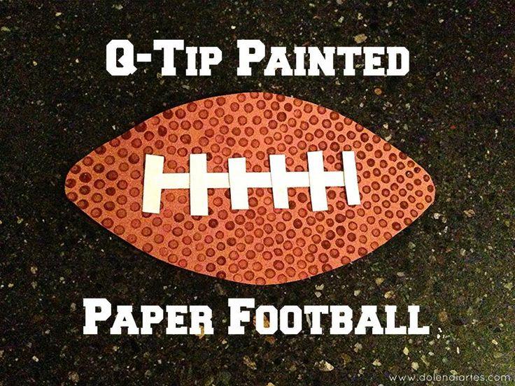 q-tip painted paper football - Dolen Diaries