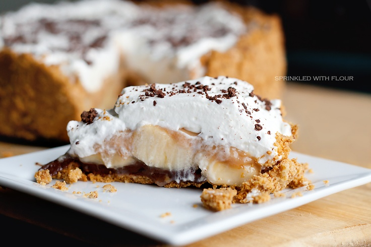 "Banoffee Surprise Pie, from the ""Sprinkled With Flour"" blog  #MaritalBliss"