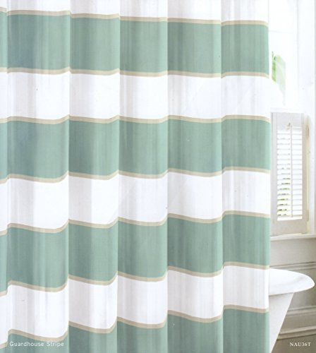 Nautica Guardhouse Stripe Mist Shower Curtain   Overstock™ Shopping   Great  Deals On Nautica Shower Curtains