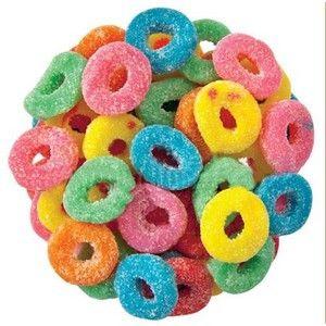 Soft gummy loops that pack a sour punch! 1/2 lb bag