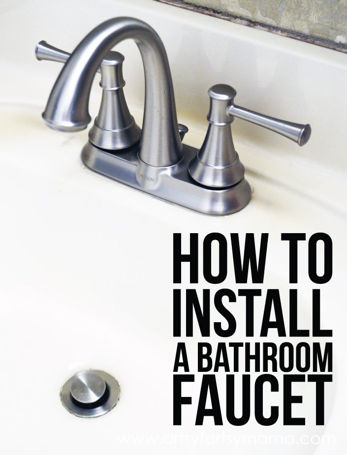 How to Install a Bathroom Faucet Faucets, Bathroom