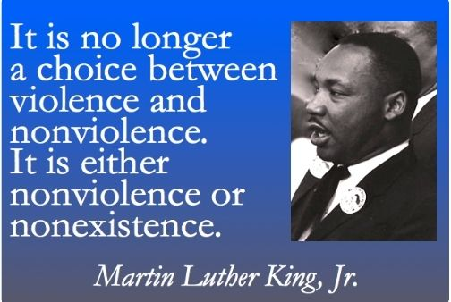 non violence gandhi and martin luther king jr In the twentieth century, the great leaders mohandas gandhi, nelson mandela, and martin luther king jr all used non-violence to bring about change to their.
