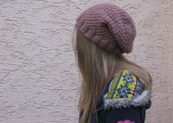 Brown wool hat for women