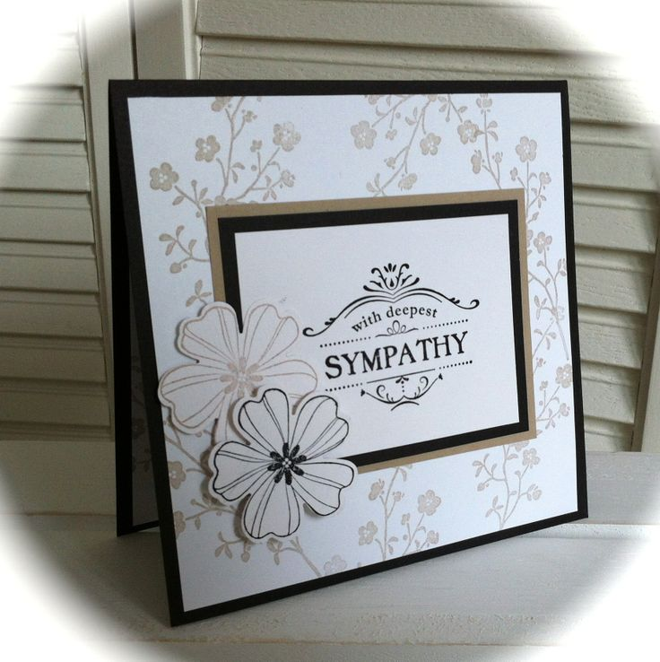 "With deepest Sympathy ... (Stampin' Up! stamp set ""Morning Meadow"")"