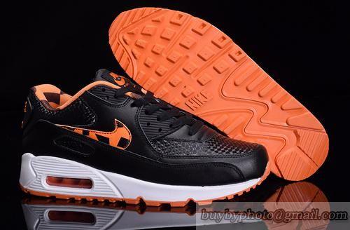 Lovers Nike Air Max 90 Sneaker Jogging Shoes Max90 A+ Sneaker Black White Orange