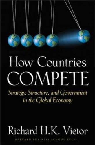 How Countries Compete: Strategy, Structure, and Government in the Global Economy:   divBusiness and political leaders often talk about what their respective countries must do to compete in the world economy. But what does it really mean for a country to compete, and how do they do this successfully? As the world has globalized, countries develop strategies to compete for the markets, technologies, and skills that will raise their standards of living. These government strategies can mak...