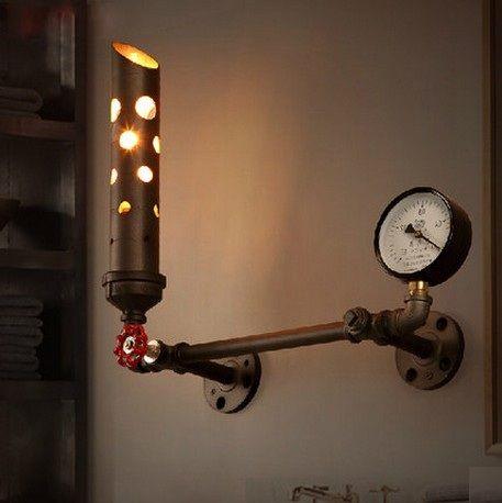 Северные стиле лофт железа искусство водопровод эдисон стены бра ретро настенные светильники для дома старинные промышленное освещение