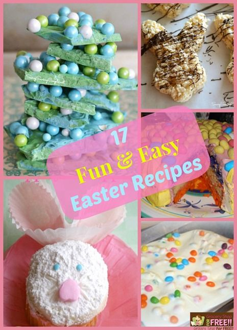 17 Fun And Easy Easter Recipes! - Grocery Shop For FREE!!
