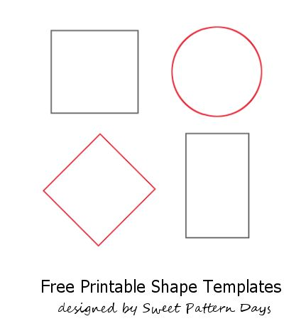 Sassy image regarding free printable shapes templates