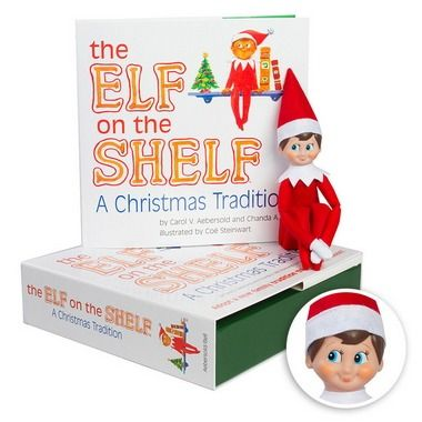 It's everyone's beloved Elf on the Shelf! The kids will love finding him around the house. Where will he be this holiday season?