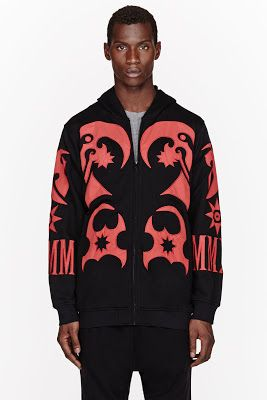 Ktz Red And Black Reflective Tattoo Hoodie