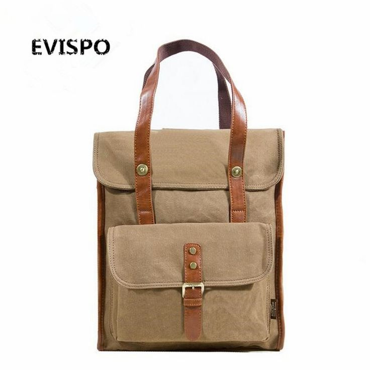 76.50$  Buy here - http://alil47.shopchina.info/go.php?t=32769625044 - EVISPO! mochila 2016 New Europe Travel Backpacks men Canvas leather school bags for teenagers Vintage Canvas backpack HL788 76.50$ #buyonlinewebsite